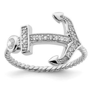 Jewelry - 925 Sterling Silver CZ ⚓️ Ring